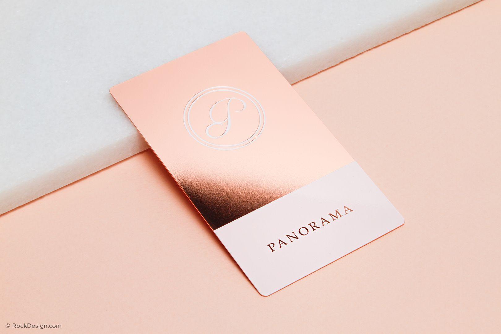 Rose Gold Metal Business Cards Branding Bronze And Gold