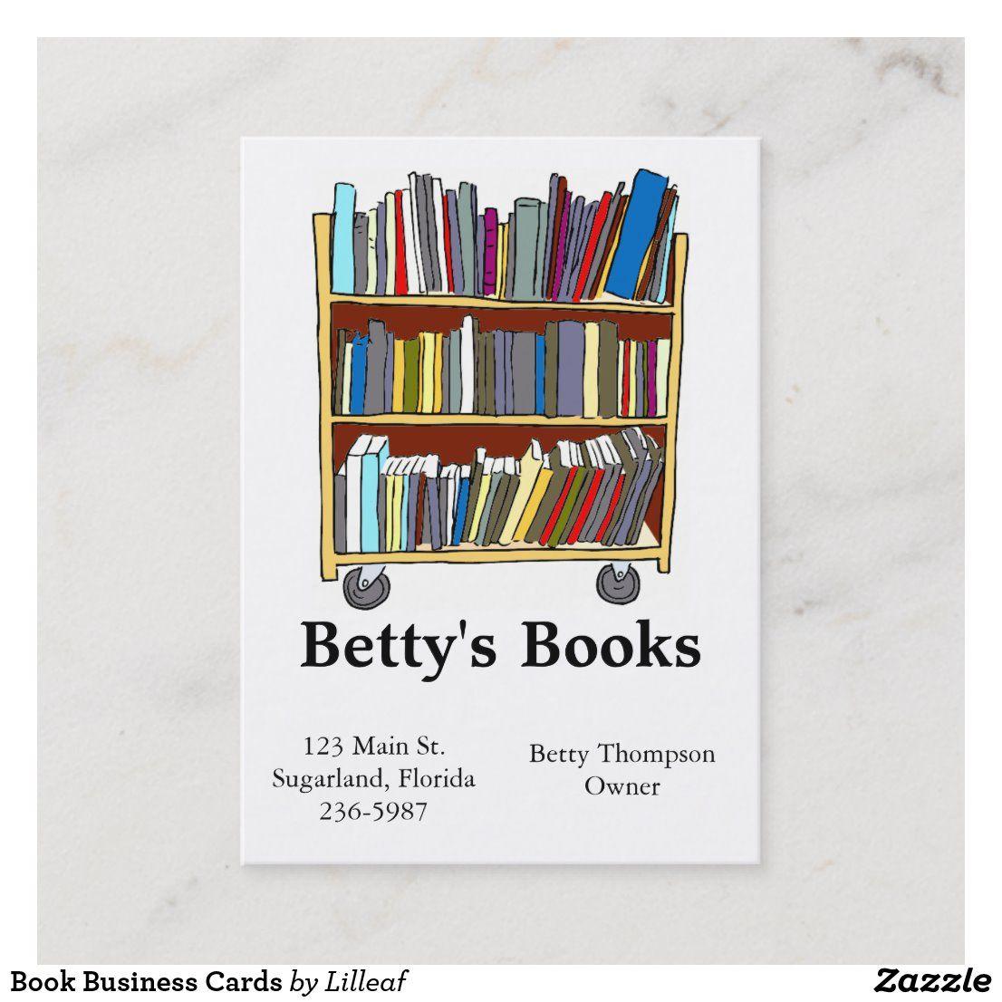 Book Business Cards Zazzle Com Business Card Books Card Book Business Cards