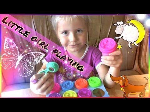 Play doh videos.Видео для девочек.Набор Пластилин Kids Dough из Детский...