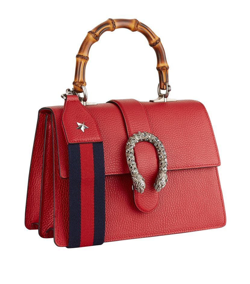 c097d2bc7c Gucci Small Dionysus Bamboo Top Handle Bag Red