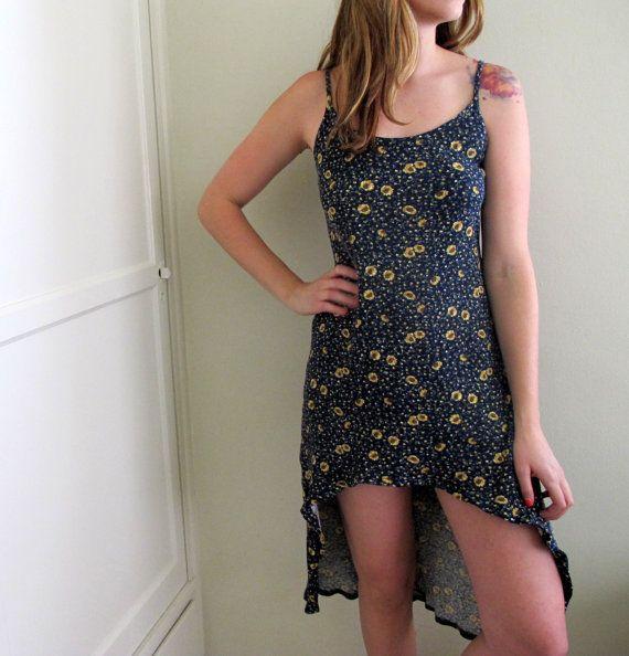Foral Print Blue Dress