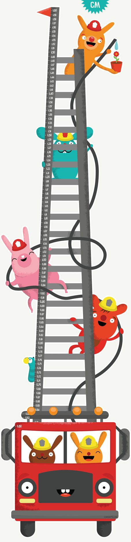 Growth Chart CM The Fire Fighters Height Chart Wall by mikimottes ...