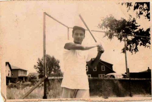 Man swinging bat alluring