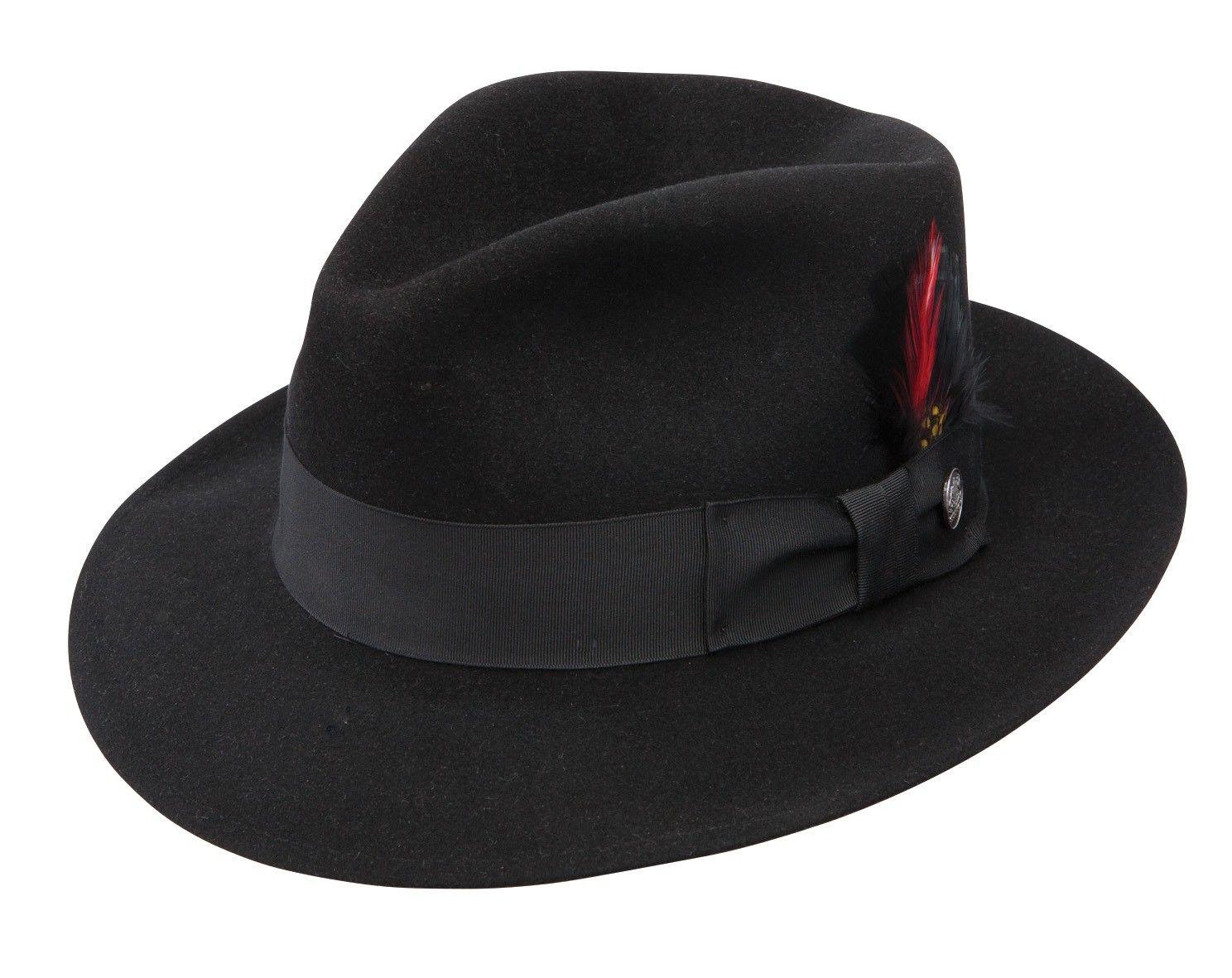 3b1a3d125bd759 Stetson Eagle Fur Felt Fedora   Scandalous Brims. ;)   Mens felt hat ...