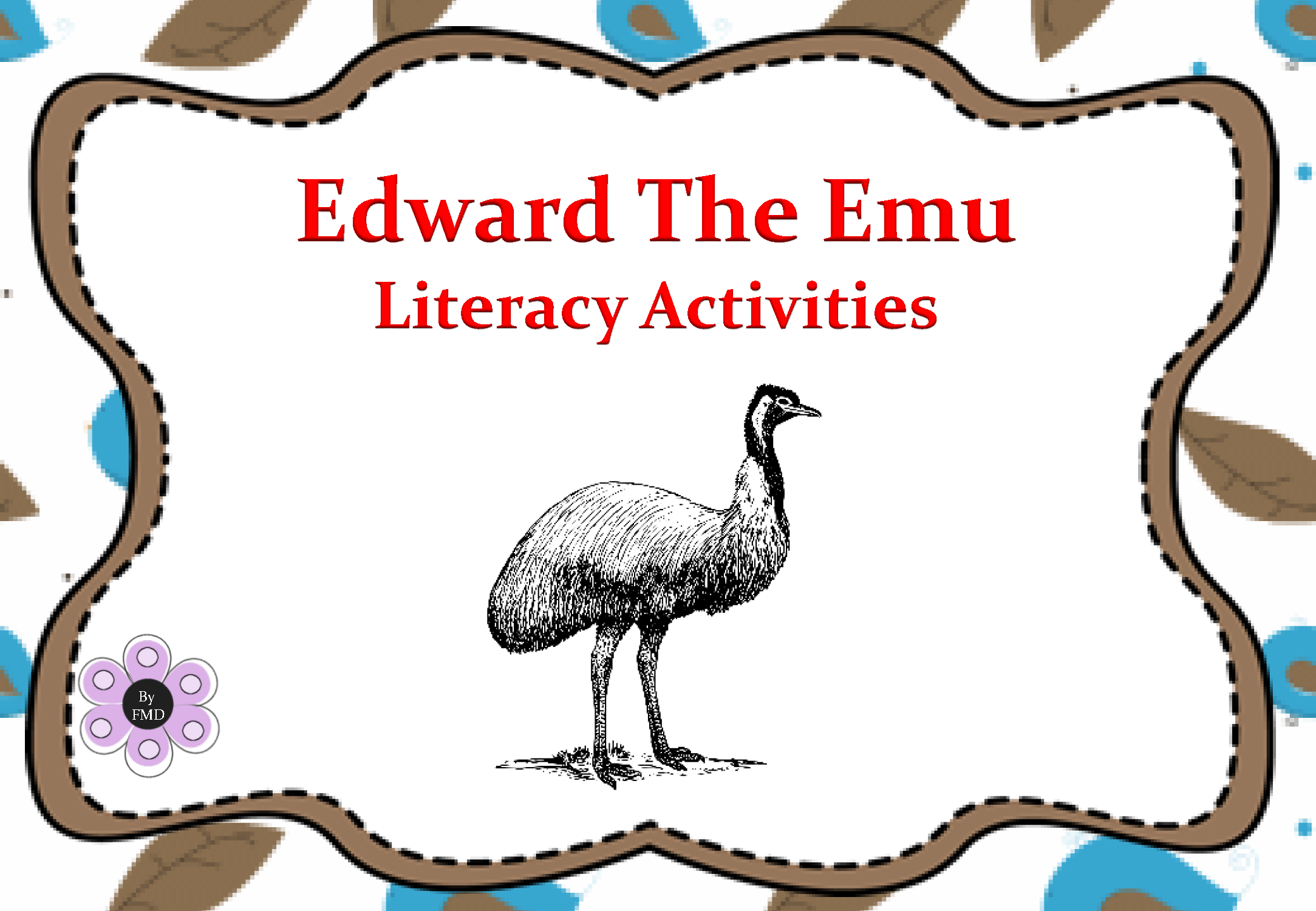 Edward The Emu Literacy Activities Page 01 English border=