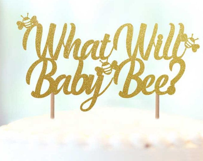 What Will Baby Bee Cake Topper Gender Reveal Theme Party Ideas