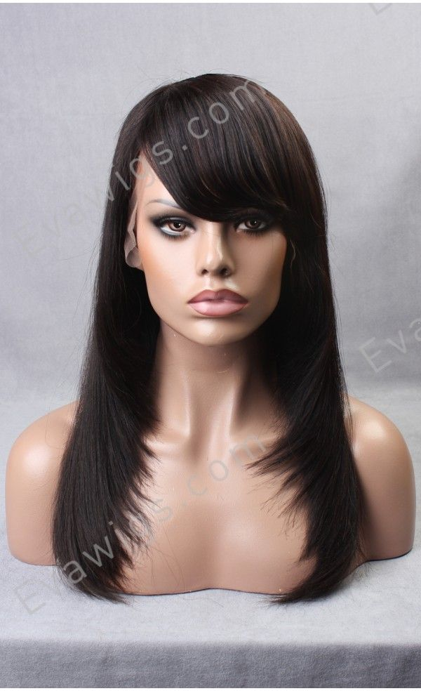 Light Yaki 18 Inch Pretty Layered Cut Virgin Human Hair Glue Less