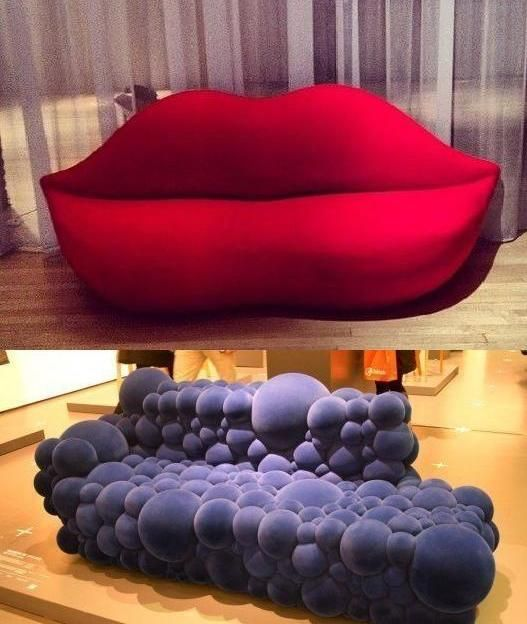 Lips And Bubbles Shaped Sofas Cool Or