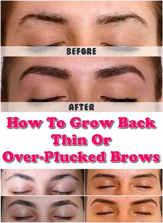 How To Grow Back Thin Or Over Plucked Brows Eyebrows Pinterest
