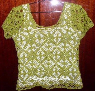 Crochet con amor: Lindas poleras de la web   Proyectos que intentar ...