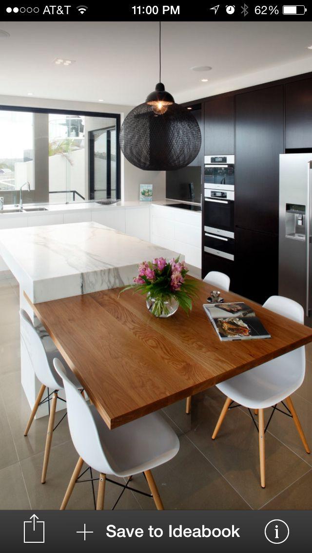 Molins Interiors // cocina tipo loft - cocina - comedor - isla ...
