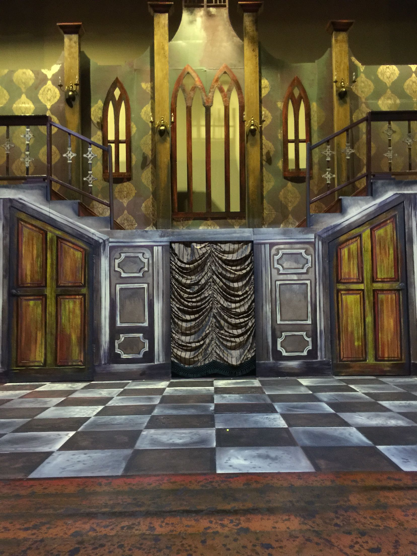 Addams Family Set Addams Home With Images Addams Family