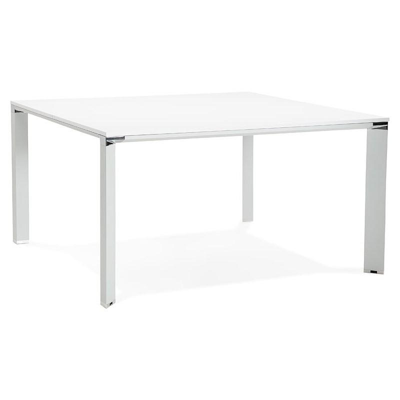 Riunione Di Scrivania Bench Tavolo Moderno 140 X 140 Cm Ricardo In Legno Bianco Tavolo Moderno Tavolo Legno Bianco