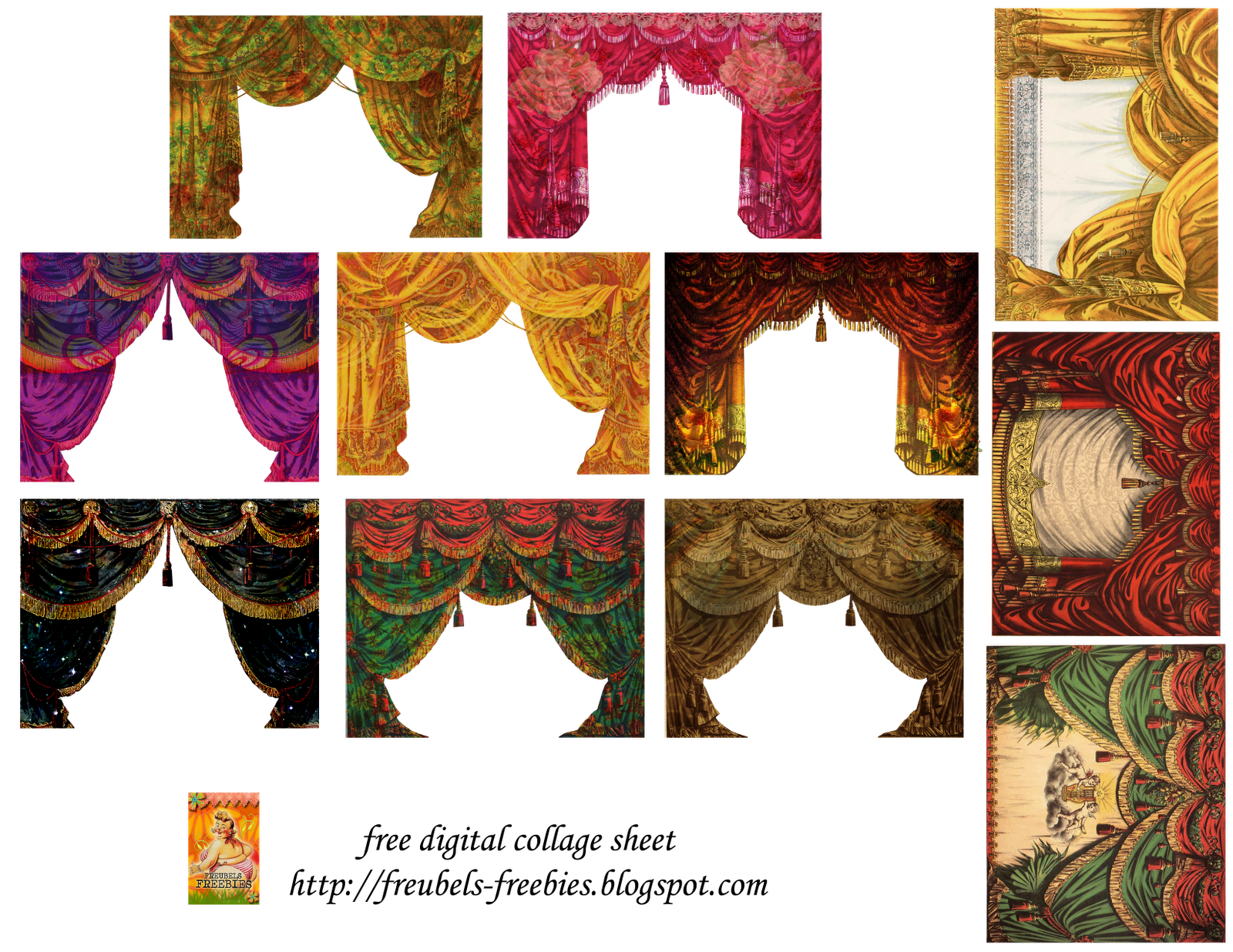 Theatre curtains png - Free Digital Collage Sheet Stage Curtains Png 1600