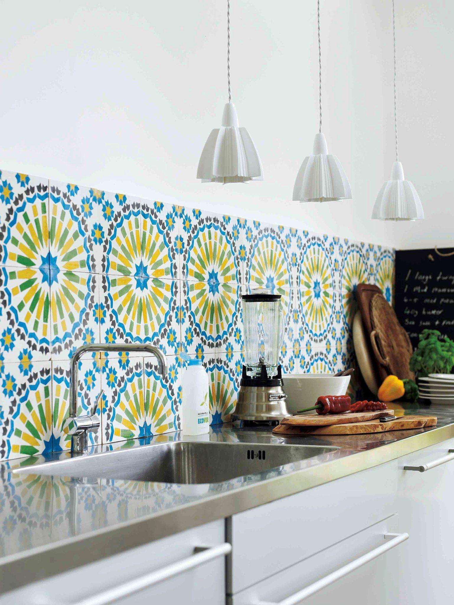 Living etc ethnic tiles | Bathrooms | Pinterest | Ethnic, Kitchens ...