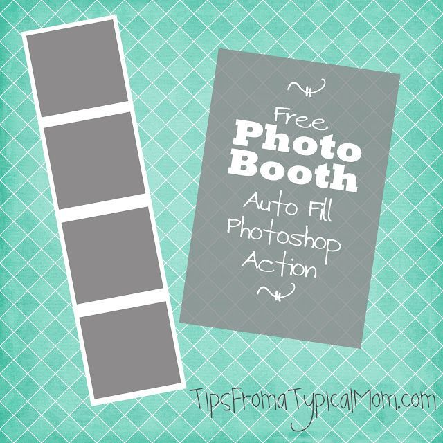 Free Photo Booth Frame Template Auto Fill Photoshop Action Design