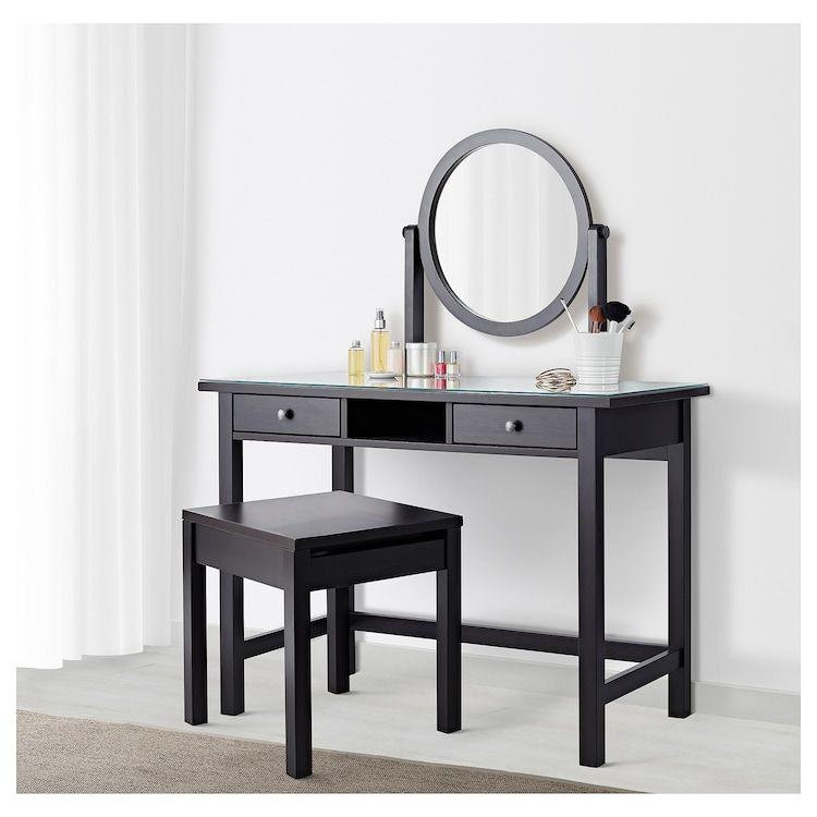 Best Hemnes Dressing Table With Mirror Black Brown 43 1 4X17 640 x 480