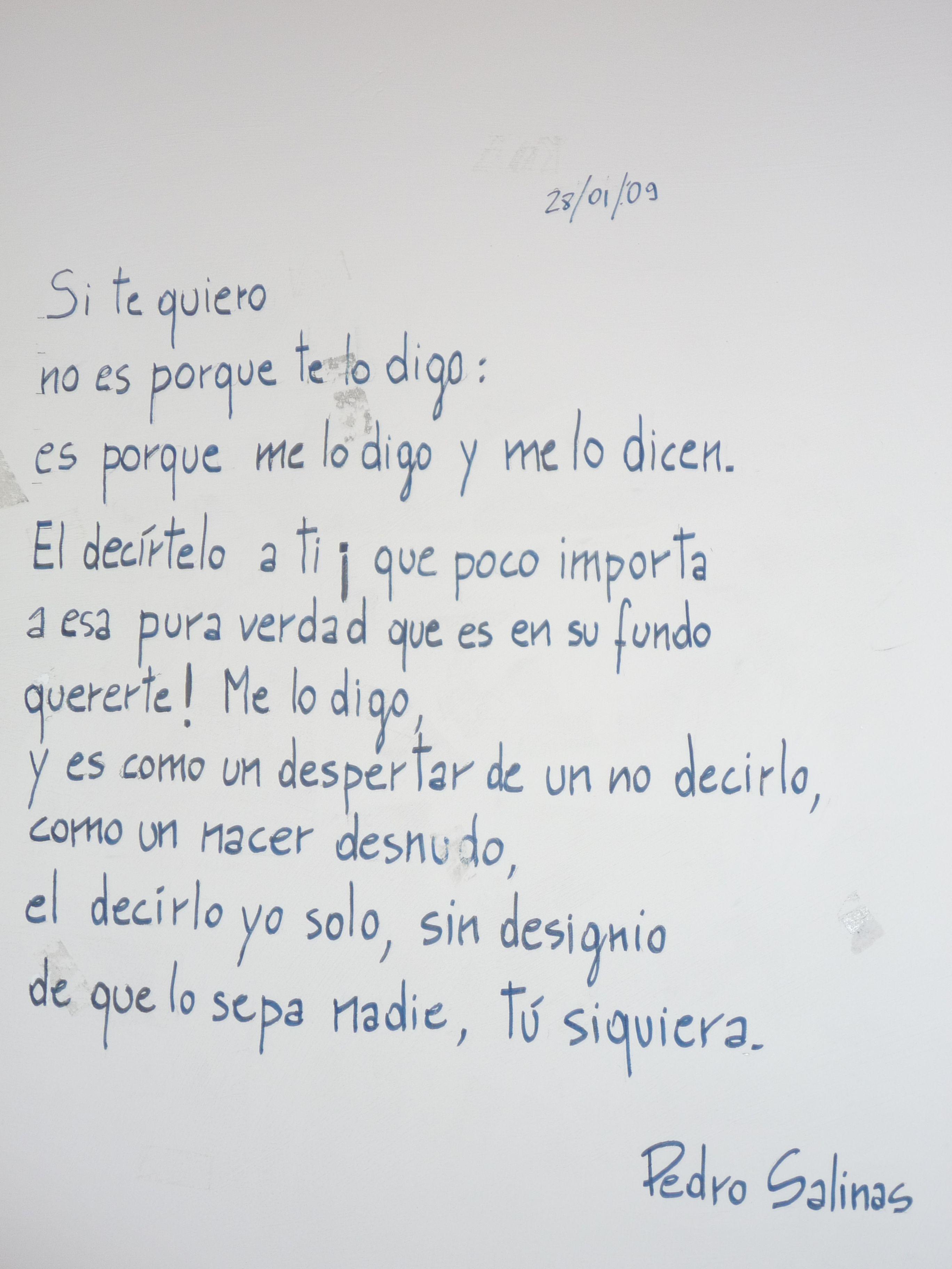 Poema Para Decir Te Quiero Sin Decirlo Pedro Salinas Si Te Quiero Poesia Poemas Literatura