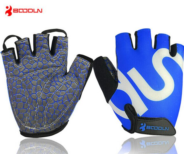 MTB Cycling Bicycle Gloves Fingerless Sports Fitness Leather Gloves