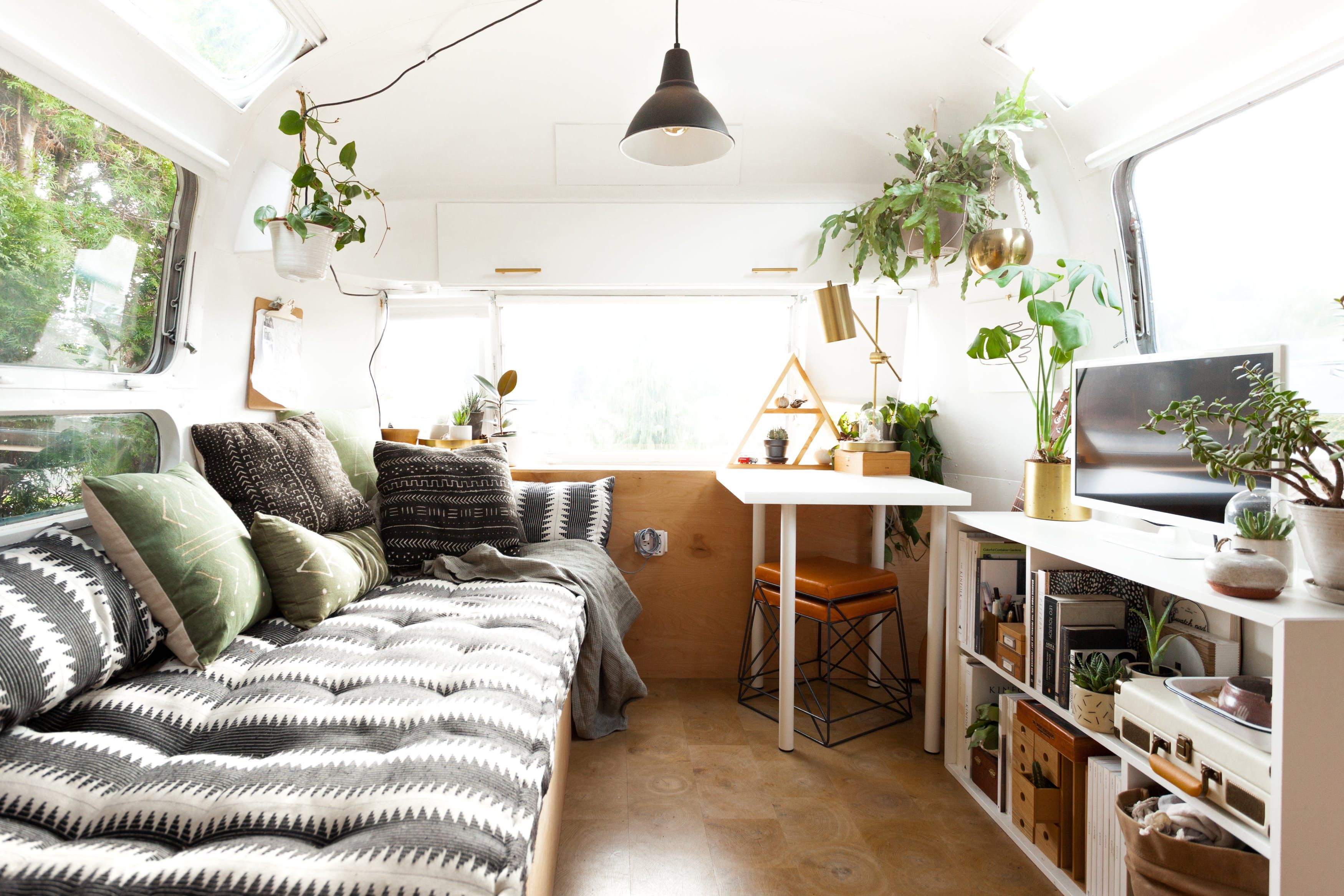 Tour a Vintage Airstream with a Scandi Inspired Remodel | Airstream ...