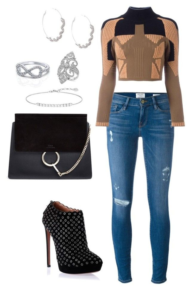 """""""Untitled #1627"""" by cecily-stagrum-buch on Polyvore featuring Alaïa, Chloé, Frame, adidas Originals, Roberto Cavalli, Effy Jewelry and Thomas Sabo"""