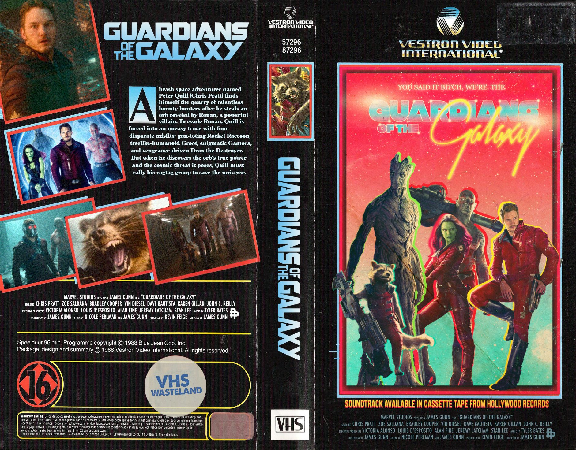 Guardians Of The Galaxy Custom Vhs Cover Vhs Alternative Movie Posters Vhs Movie