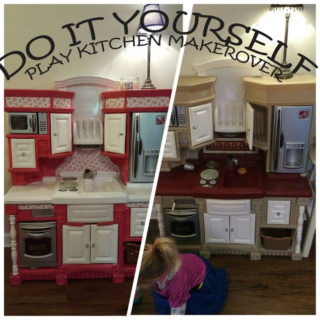 diy play kitchen remodel (plastic step 2) | kitchen paint