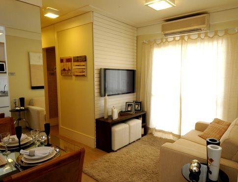 Sala apartamento pequeno Casa Home Pinterest Sala de estar