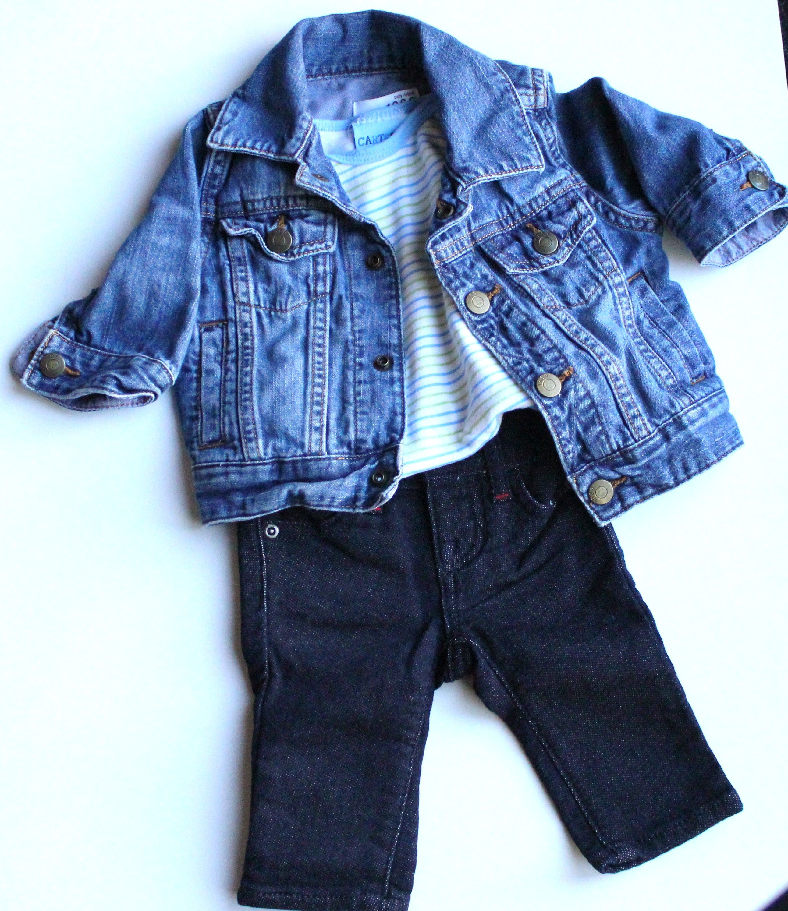 Classic Baby Boy Outfit Denim Jacket and Jeans by Baby Gap All