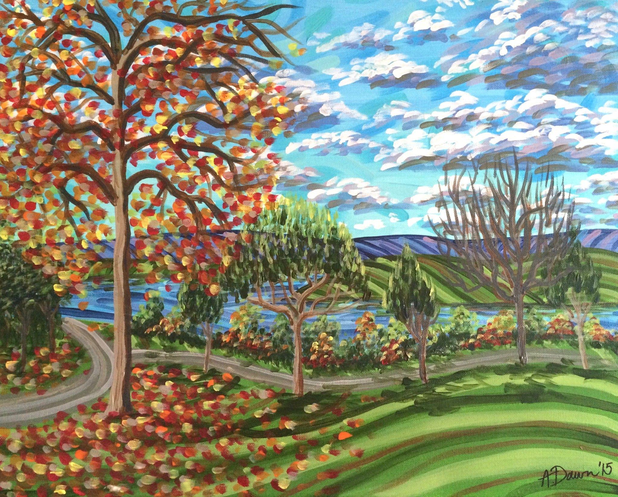Fall At Negley Park A Dawn Art Landscape Autumn Modern