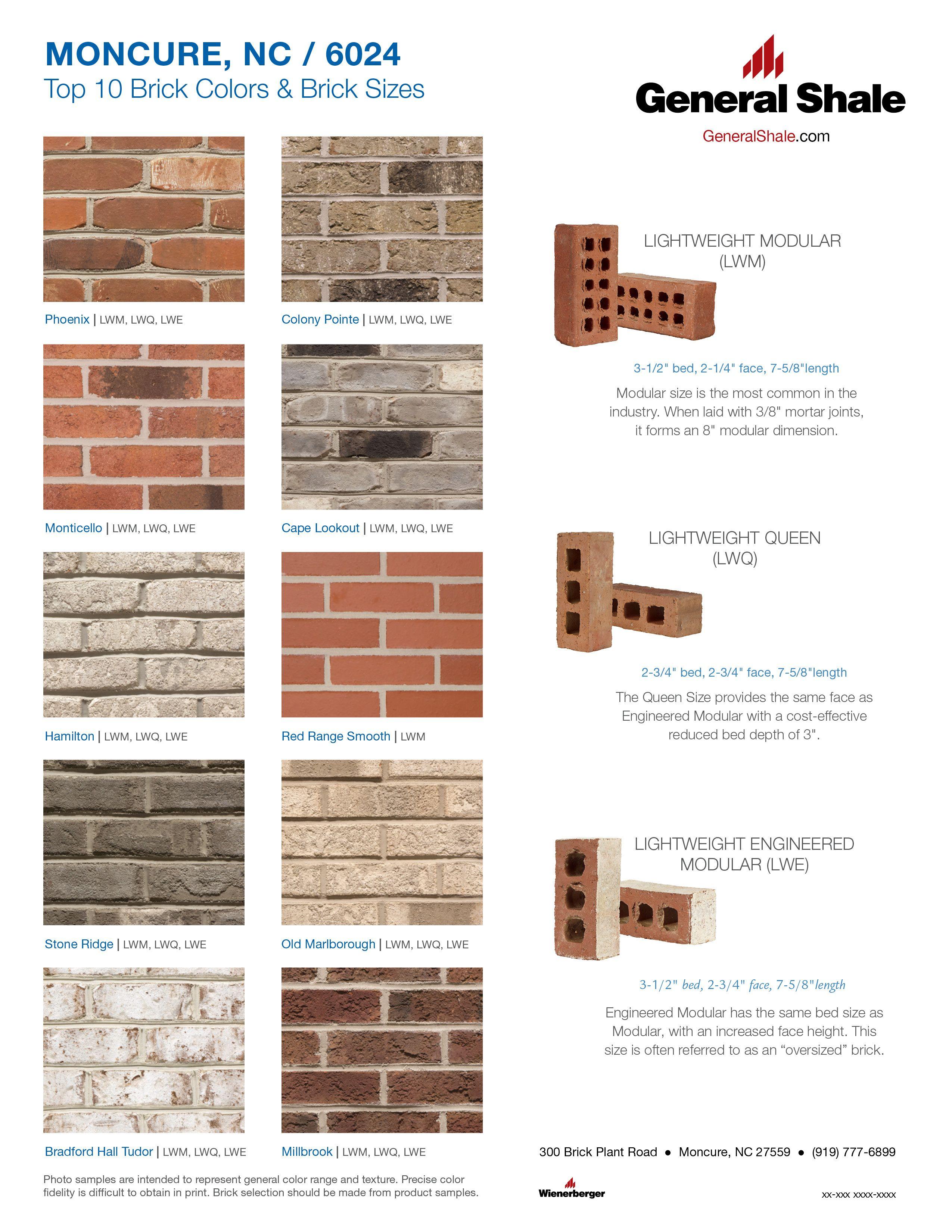 Moncure Nc Top 10 Brick Colors Brick Colors Exterior House Colors Brick