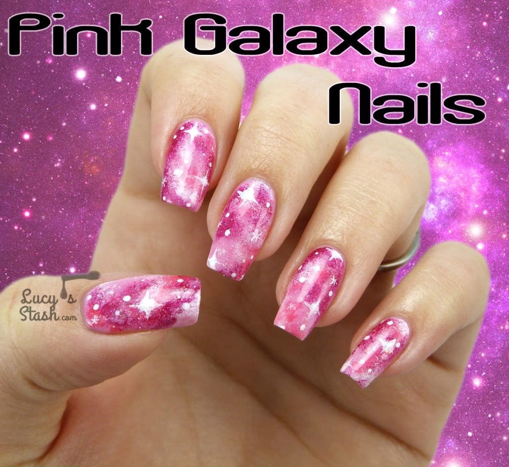 'Pink Galaxy Nails' (w' TUTORIAL) Nail-Art by 'Lucy's Stash' on Bloglovin<3<3<3LOVE GALAXY NAIL-ART + DONE IN PINK IS A FRESH LOOK THAT'S PRETTY AWESOME! GORGEOUS<3<3<3