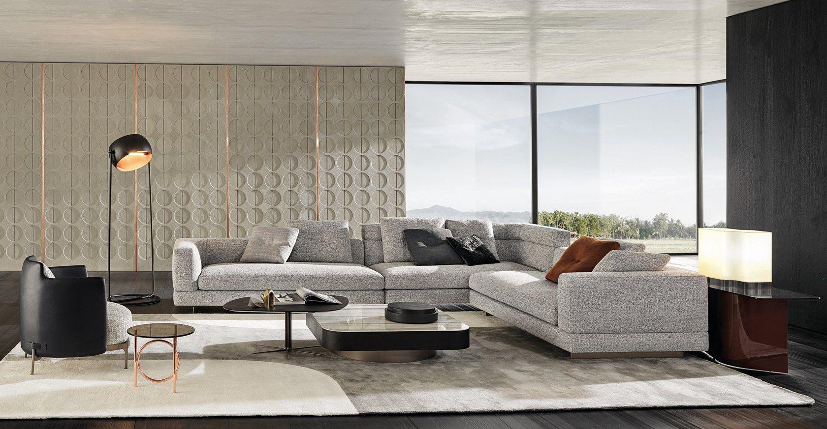 Sofa ALEXANDER by Minotti in 2020 | Hall interior design ...