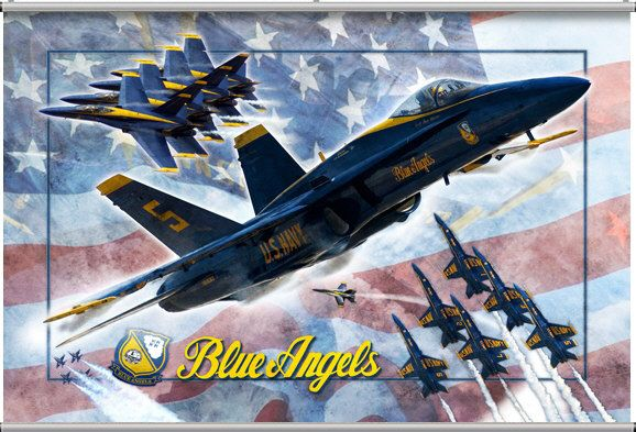 Blue Angels Minute Wall Mural Blue angels Wall murals and Angel