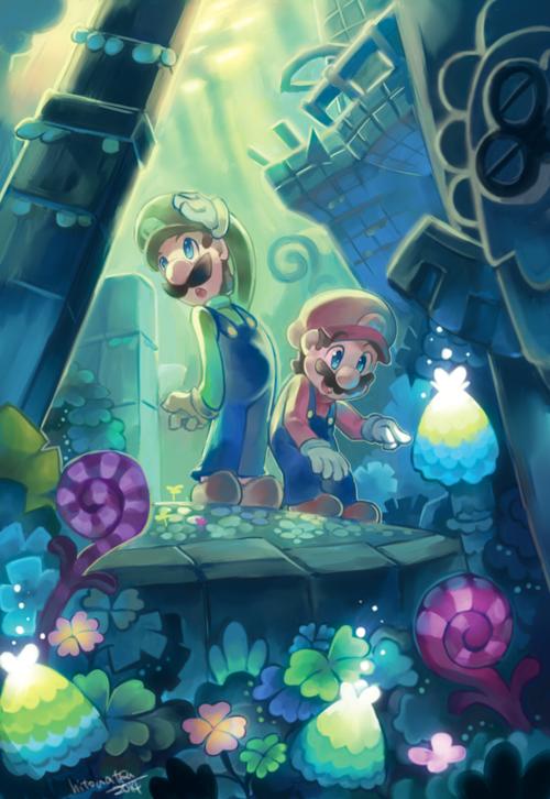 Mario Luigi Dream Team Super Mario Art Mario Fan Art Mario