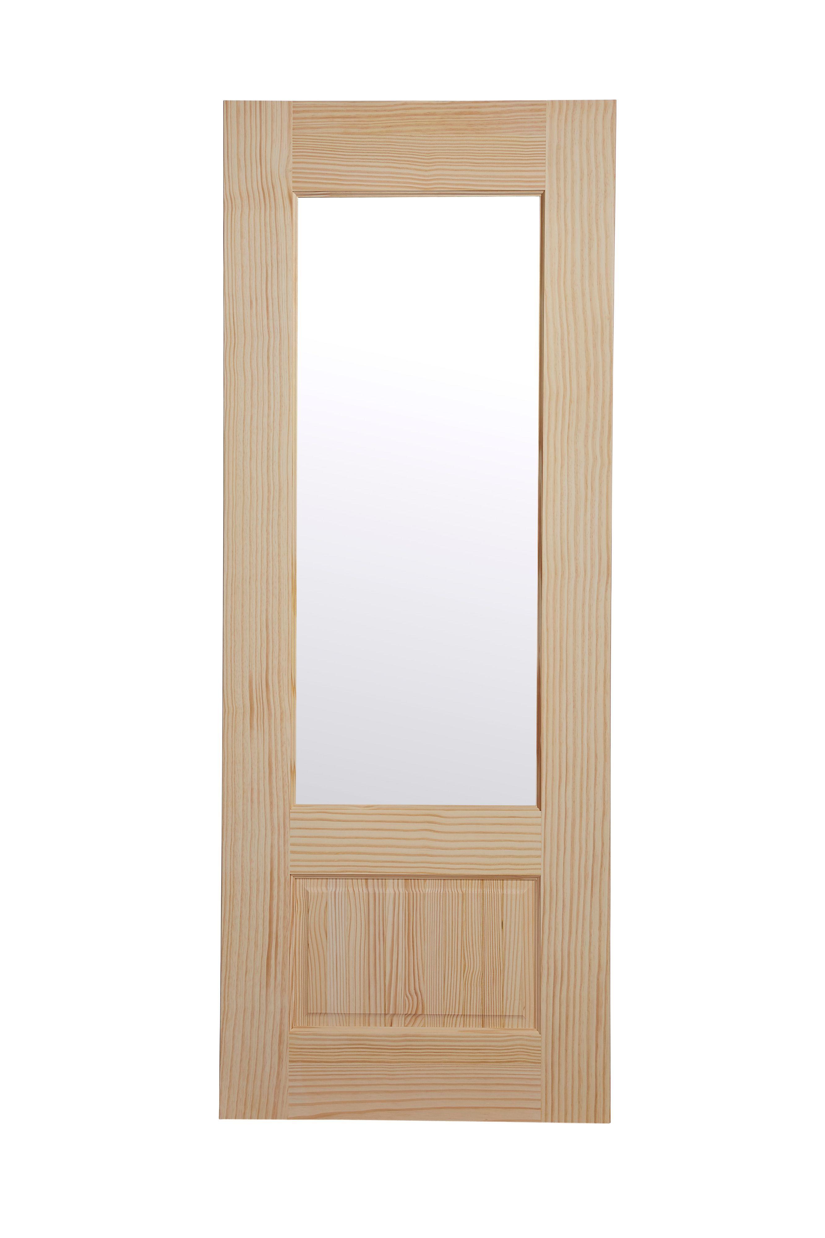 2 Panel Clear Pine Glazed Internal Standard Door H1981mm W686mm