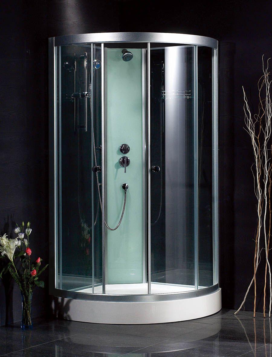 round shower stall free standing