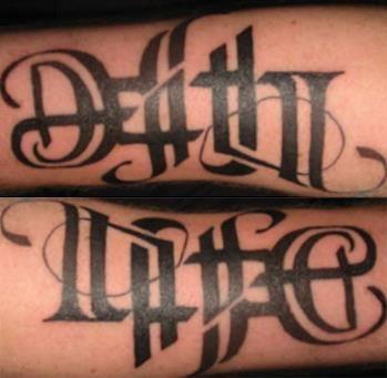 reversible tattoos! love\'em | Tattoos | Ambigram tattoo, Tattoo ...