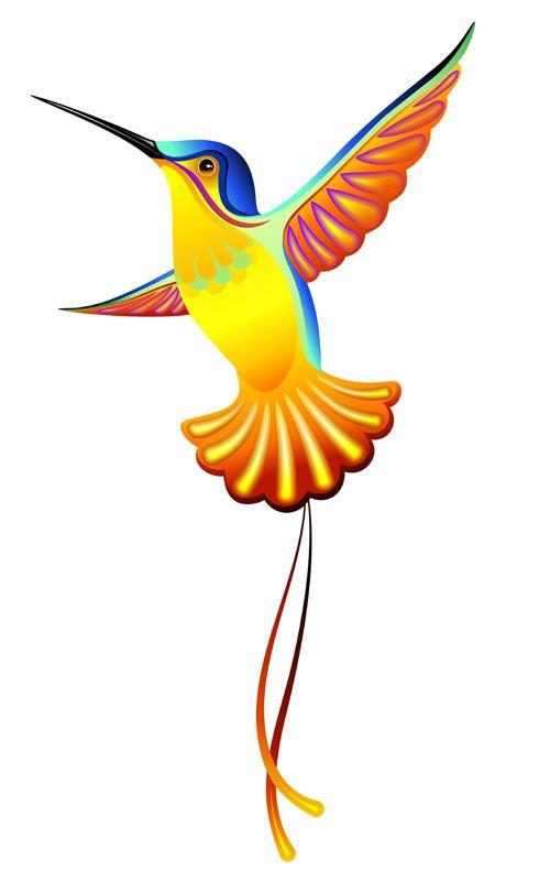 cute hummingbird vector 01