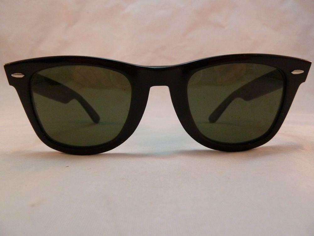 e4bf3b14e2 Vintage Ray-Ban B L Wayfarer Sunglasses with Case 5024 Classic Black Frames  USA  RayBanBL