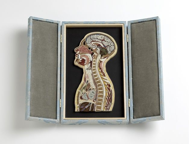 quilled paper head and torso
