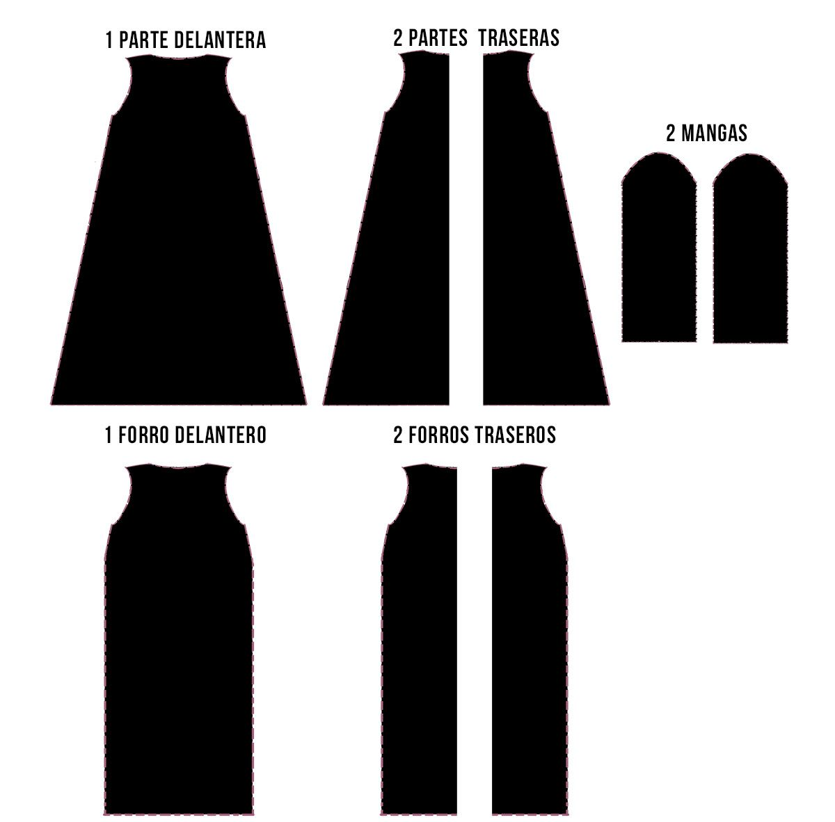 Como hacer un vestido negro facil