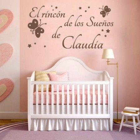 Vinilos para paredes infantiles con la frase el rinc n de for Frases para cuartos de ninas