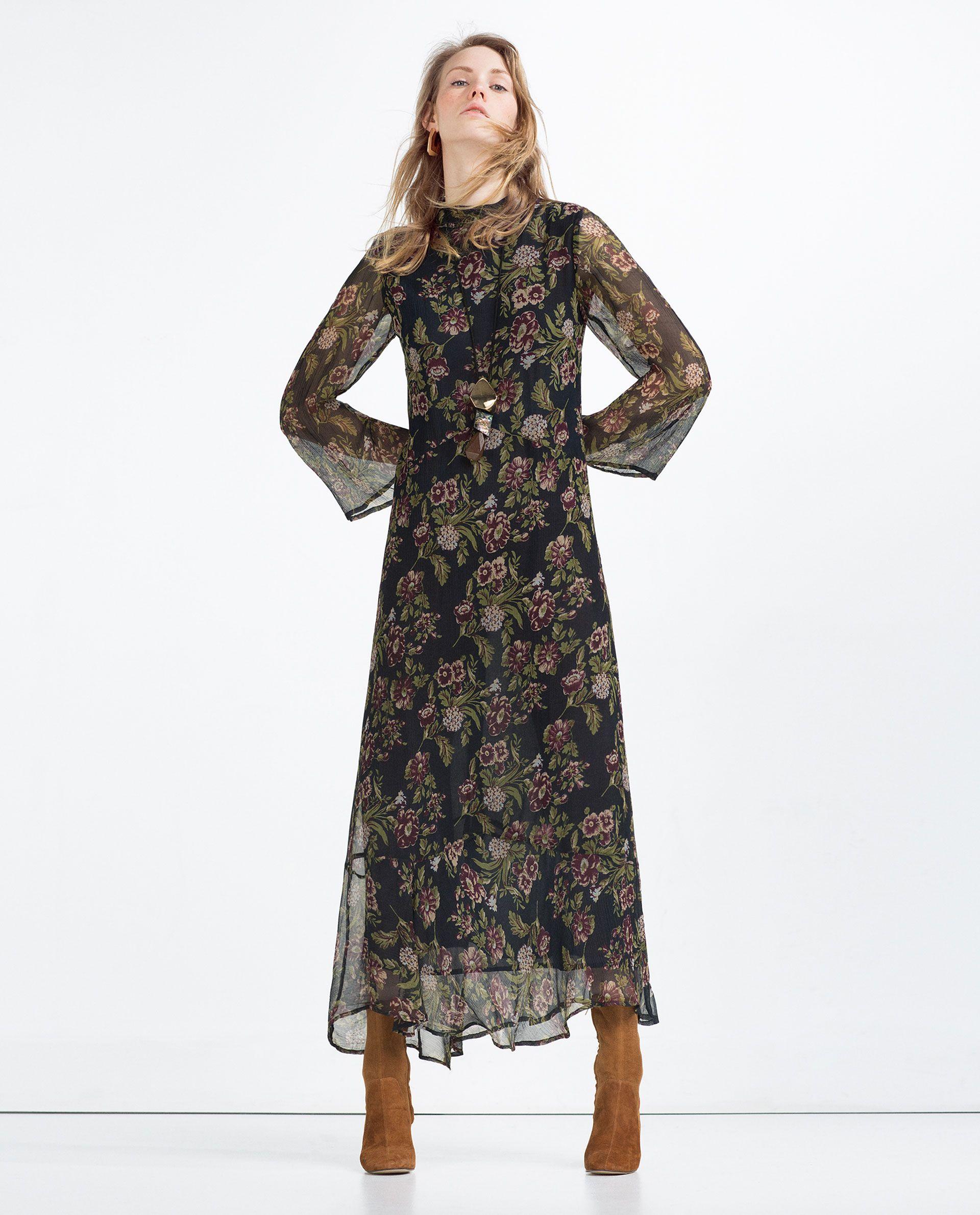 Vestidos largos de flores 2016