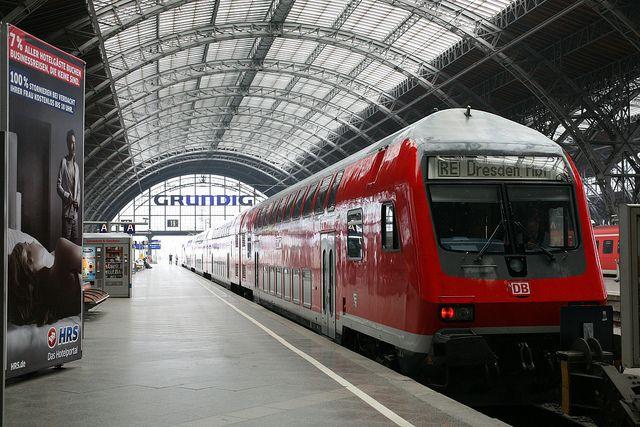 Leipzig Hauptbahnhof the new Deutsche Bahn Tren