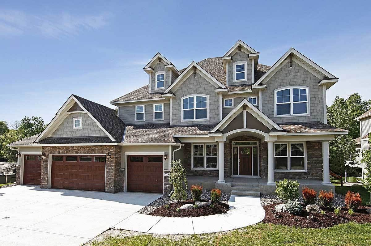 Storybook House Plan With 4 Car Garage Craftsman house