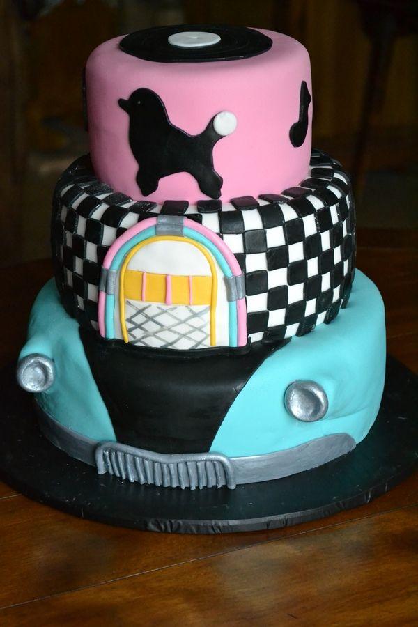 1950s Sock Hop Birthday Cake Photos