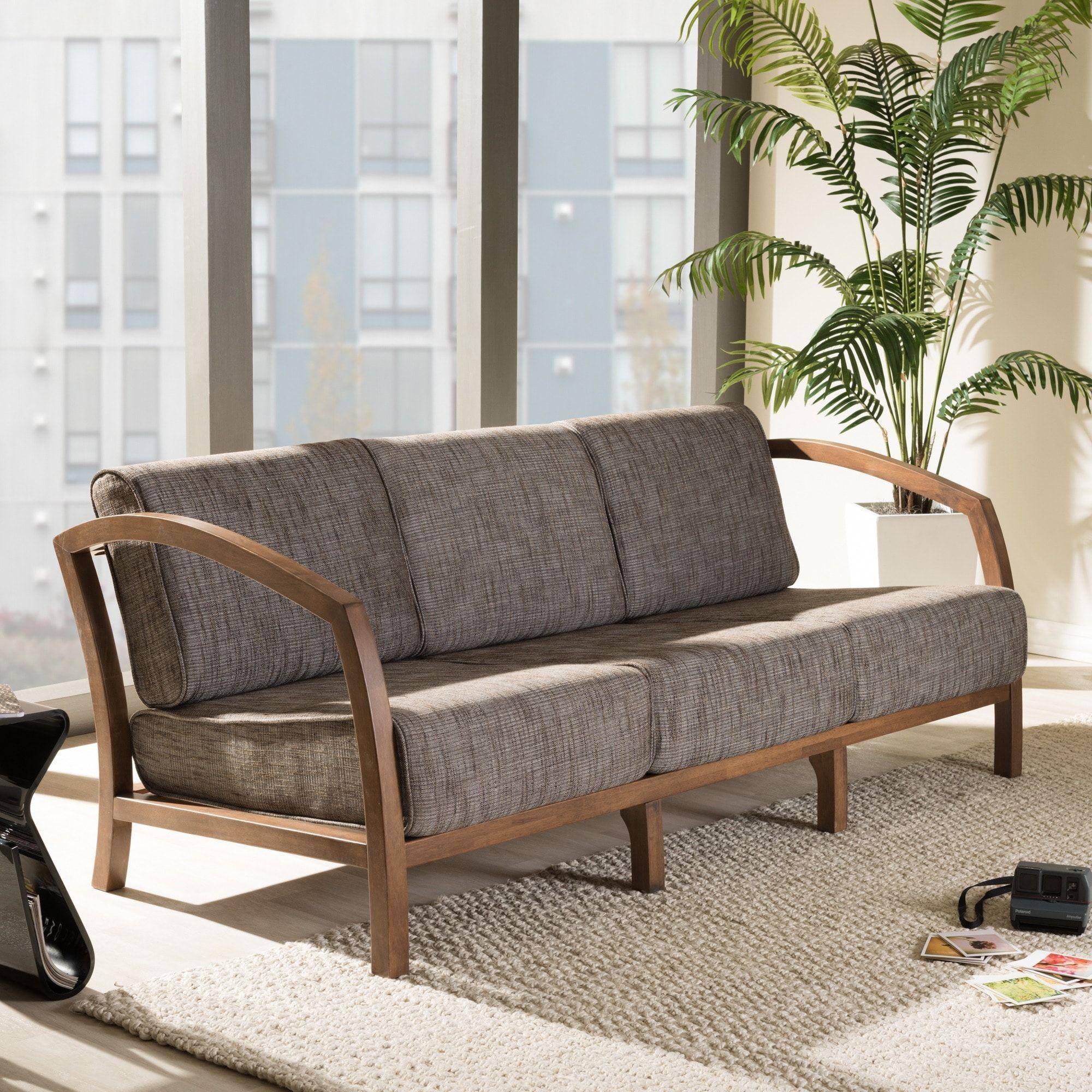 Baxton Studio Velda Modern and Contemporary Walnut Wood