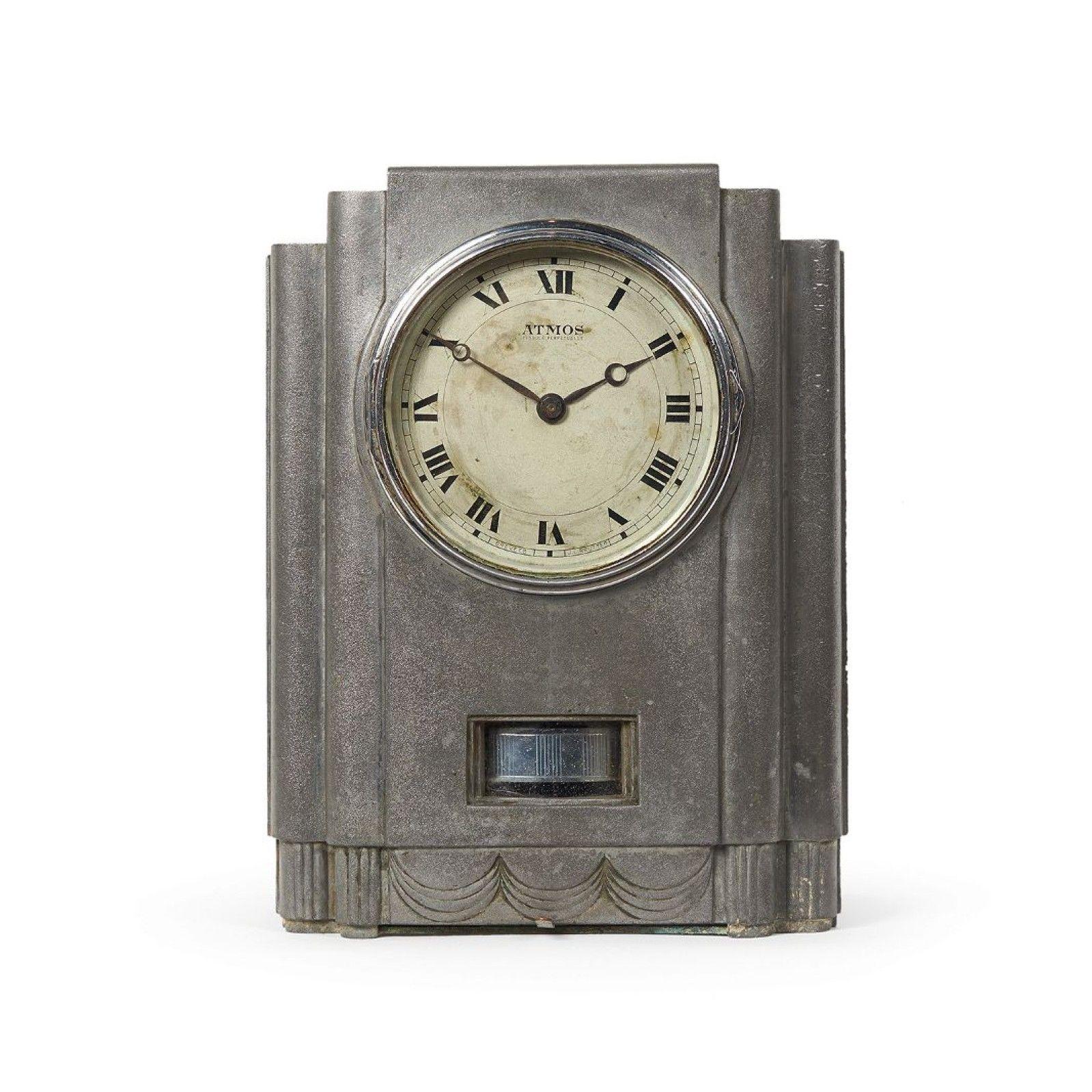 Horloge De Bureau Originale j.l. reutter; #fj1 nickeled steel atmos 'juke box' clock for