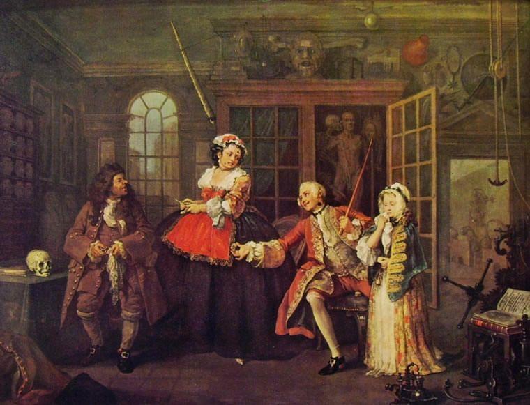 William Hogarth Matrimonio Alla Moda Dal Ciarlatano 1743 Olio